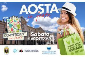 Aosta in festa con Commercianti in festa